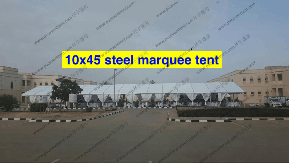 Extravagant Outside Wedding Canopy Tent 10 x 45m With Curtain For Wedding Party